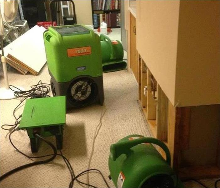 Water Damage – Prattville Game Room Before