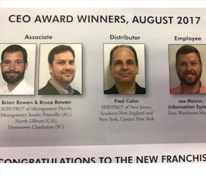 SERVPRO August CEO Award