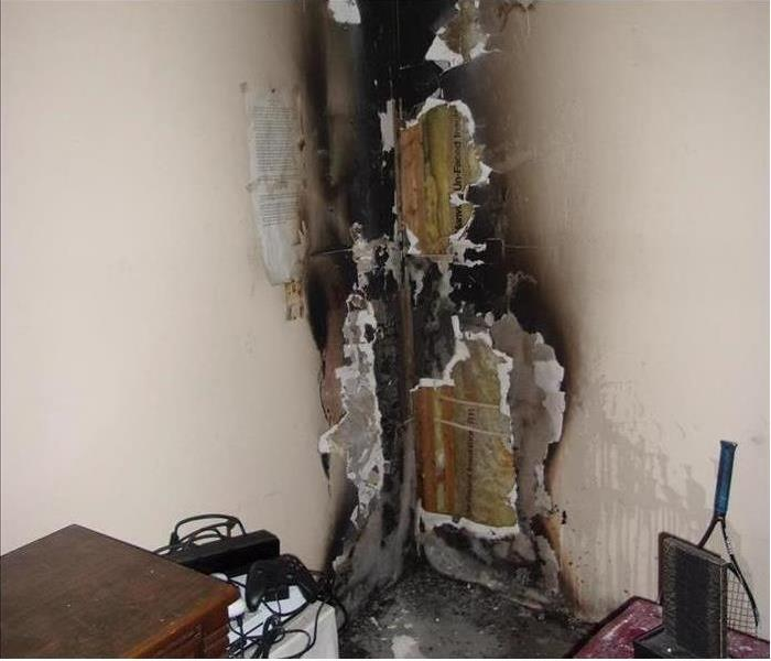 Fire Damaged Room in a Tallassee Home